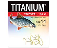 02-P-184G-14 Крючок Titanium Crystal (10 шт.), р-р. 14
