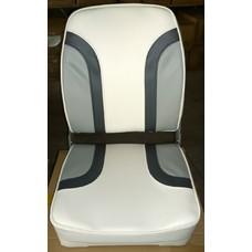 1001001 Кресло (цвет белый/т. серый/серый)